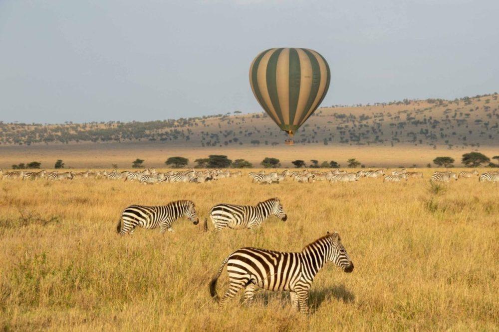 Heißluftballon-Safari Serengeti Tansania